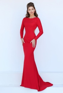 long-sleeves-red-chiffon-mermaid-prom-dress-3